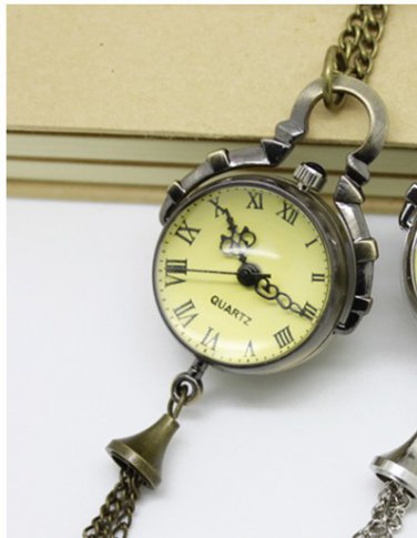 Antiqued Brass Vintage Style Classic Punk ball Pocket Watch Necklace