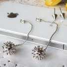 Vintage Style Vogue Silvery PUNK Ball Earrings Ear Wires