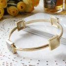 Vintage Style Vogue Inlay Rhinestone Gold PUNK Bracelet