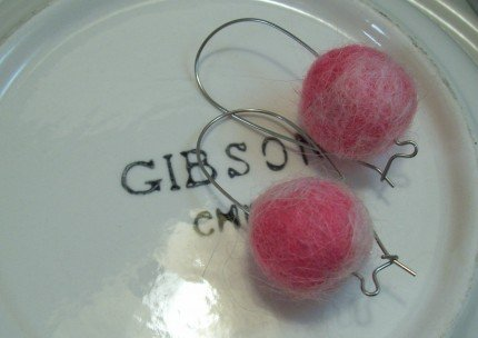 Felted Bead Earrings in Any Color