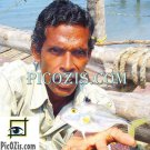 "VPE001201109 - Fisherman in India - 15x20cm (6x8"")"