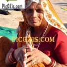"""VPE008201109 - Thankful Indian Woman - 15x20cm (6x8"""")"""