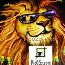 "VAN004201109 - Groovy Lion - 15x20cm (6x8"")"