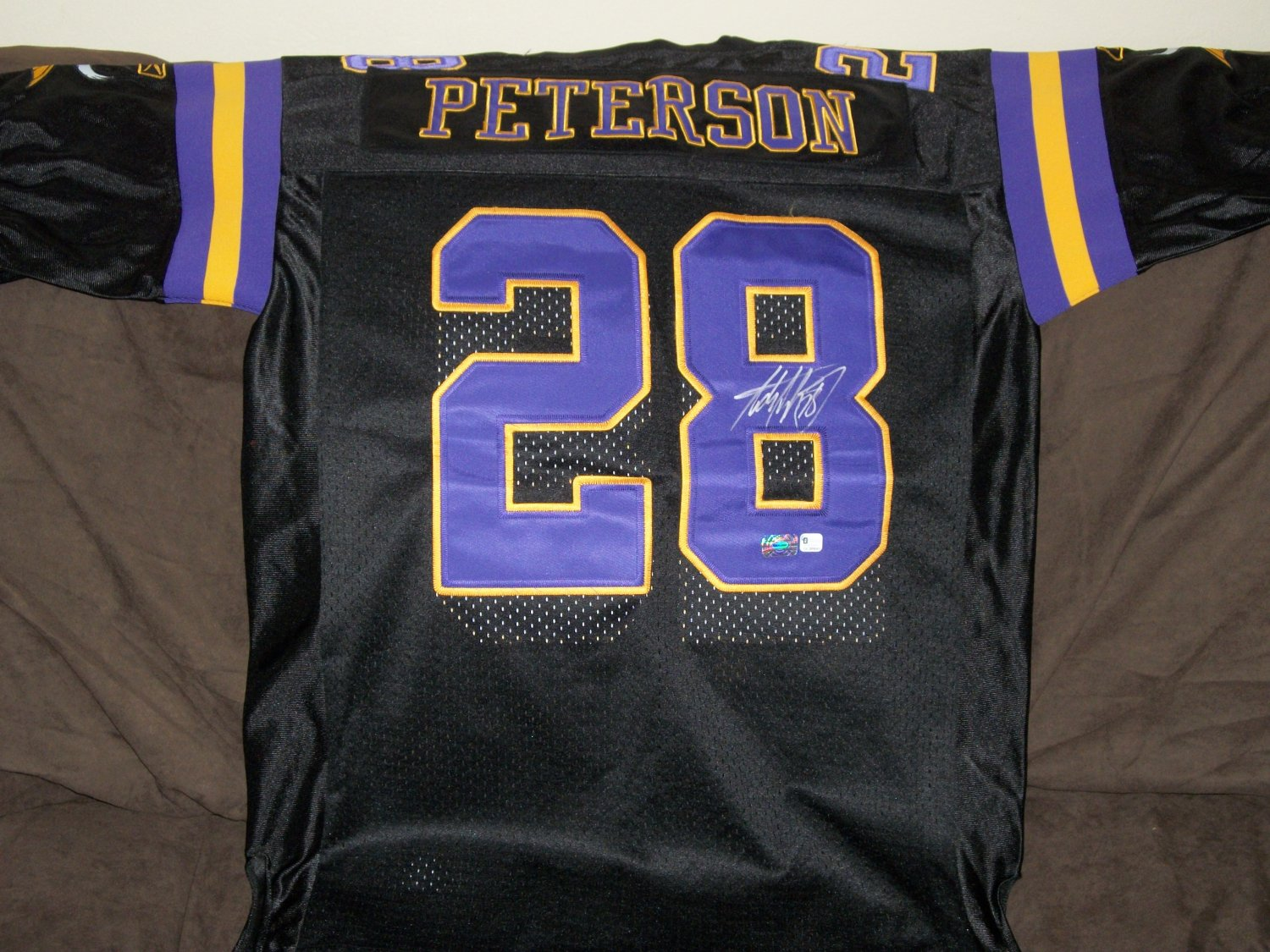 Adrian Peterson autographed throwback jersey