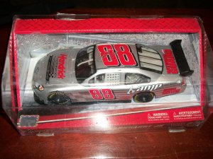 Dale Earnhardt Jr autographed 1:24 #88 silver National Guard car