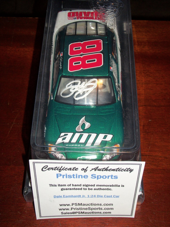 Dale Earnhardt Jr autographed 1:24 green National Guard car