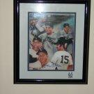 Mickey Mantle+Joe Dimaggio signed 8x10 photo