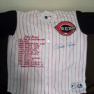 Pete rose LE autographed CAREER STAT Jersey