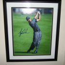 Tiger Woods LE autographed 16x20 FRAMED UDA Photo