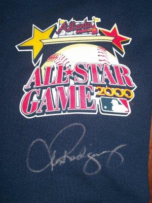 Alex Rodriguez autographed 2000 All-Star T-Shirt Jersey