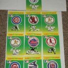 "1990 Fleer Baseball card pack Large ""team stickers""-10 pack"