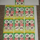 "1990 Fleer Baseball card pack small ""team stickers""-10 pk"