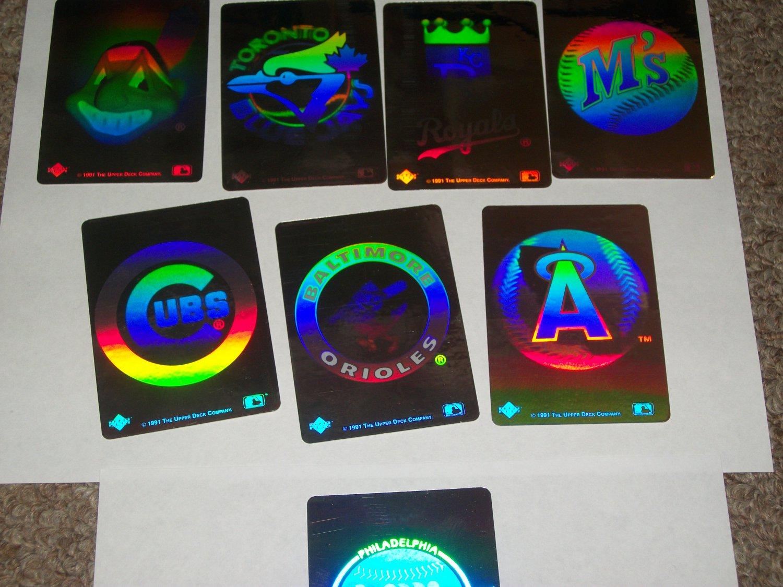 1991 Upper Deck Baseball Reflector Stickers-10pk