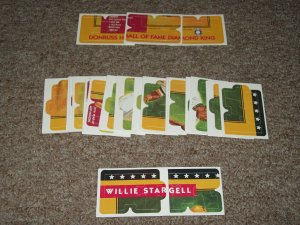 1991 Willie Stargell Donruss Diamond King Puzzle-Complete Set