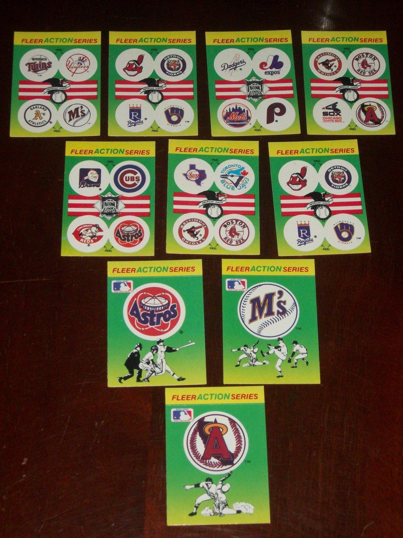 1990 Fleer Baseball card sticker Variety Pack-10 pk