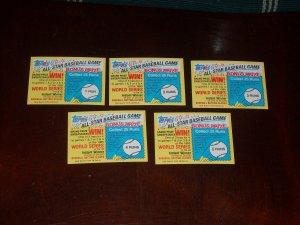 1984 Topps All-Star Baseball Game Sweepstakes cards-10 pk