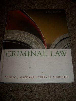 Criminal Law Ninth Edition- Thomas Gardner+ Terry Anderson