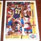 91-92 Upper Deck Magic Johnson vs. Michael Jordan- Classic Confrontation