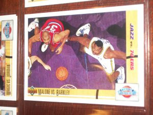 91-92 Upper Deck Malone vs. Barkley- Classic Confrontation card