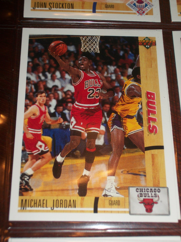 Michael Jordan 91-92 Upper Deck basketball card