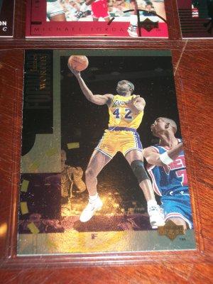 "RARE James Worthy 94-95 Upper Deck basketball-  ""Gold"" Limited Insert"