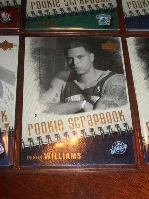 Deron Williams 05-06 Upper Deck basketball card- Rookie Scrapbook