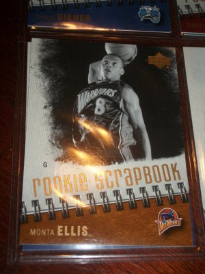 Monta Ellis 05-06 Upper Deck basketball card- Rookie Scrapbook