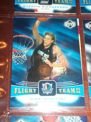 Dirk Nowitzki 04-05 upper deck basketball card- Flight Team Insert