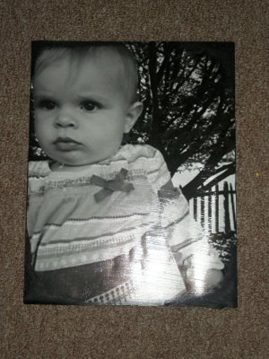 Photo transferred onto canvas- Hand made