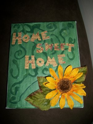 """""""Home Sweet Home""""- Hand Crafted Decorative Display"""