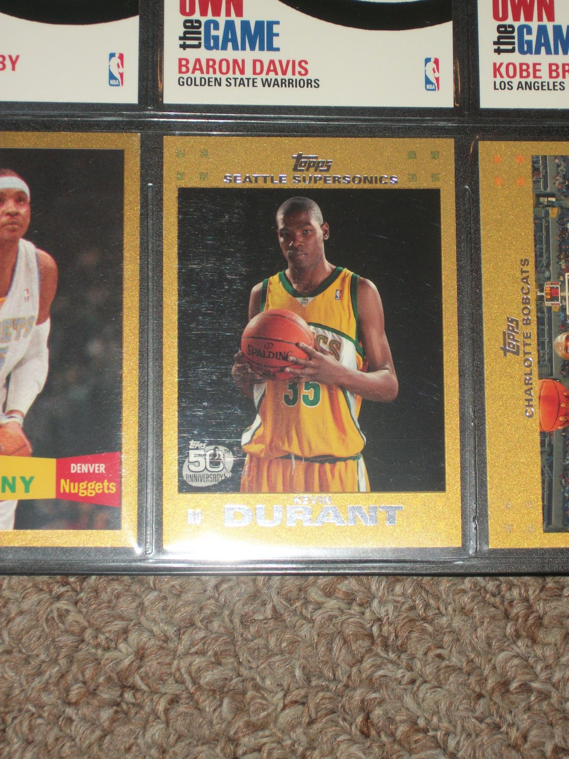 Kevin Durant 2007 Limited Edition Gold Rookie Card 1207/2007