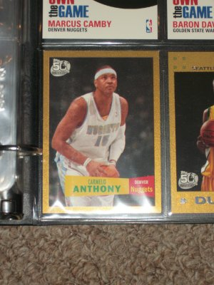 Carmelo Anthony Limited Edition 2007 Topps 50th anniv Gold 435/2007