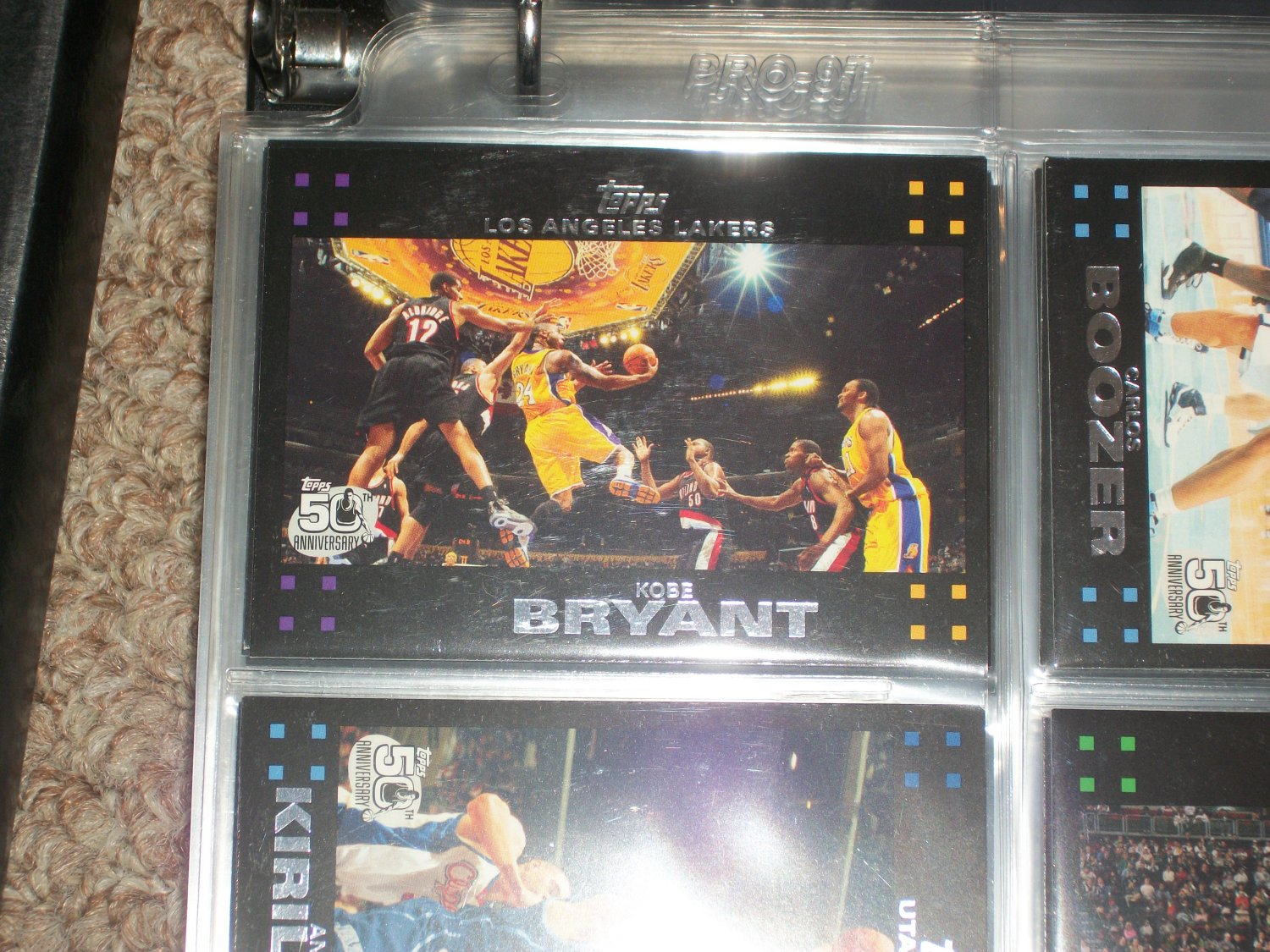 Kobe Bryant 2007 Topps basketball 50th anniv card