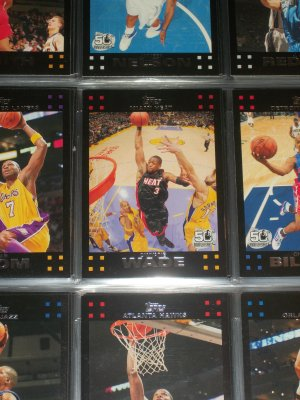 Dwyane Wade 2007 Topps 50th anniversary basketball card