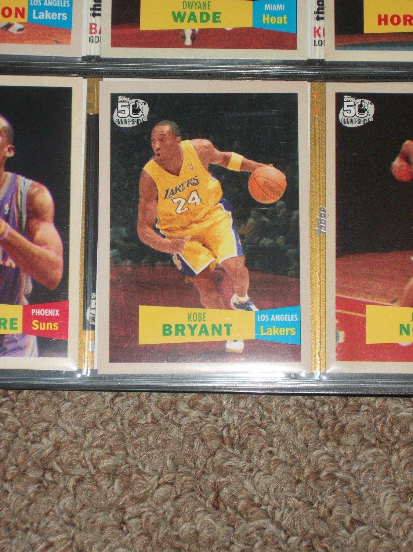 Kobe Bryant 2007 Topps 50th anniversary/2nd version