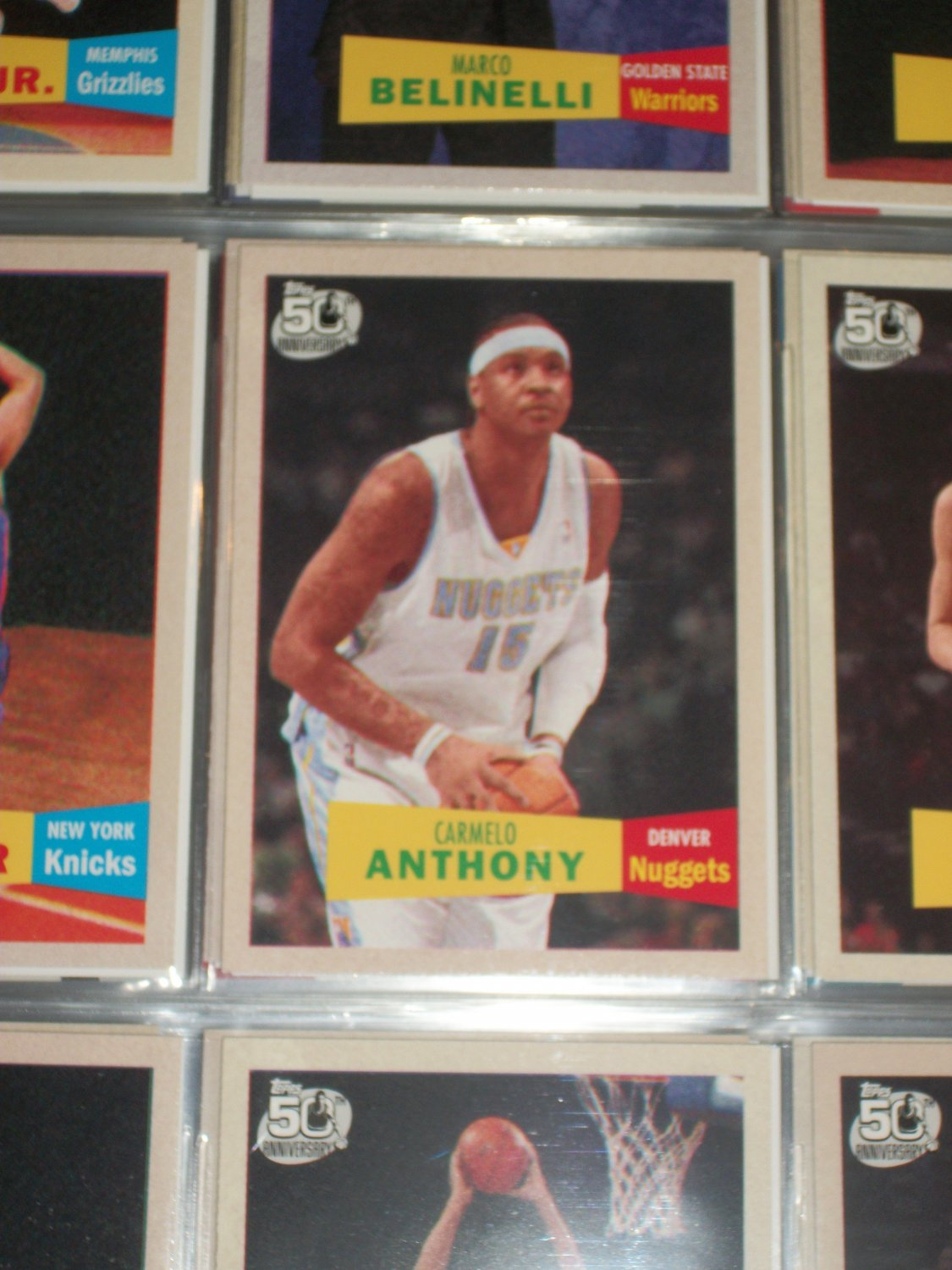 Carmelo Anthony Topps 2007 50th anniversary/2nd version