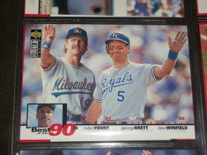 George Brett, Robin Yount, Dave Winfield 1994 Upper Deck-Best of the 90's Baseball card