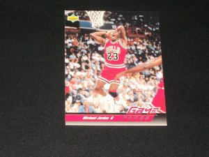 Michael Jordan 1993 Upper Deck Game Faces Basetball Card