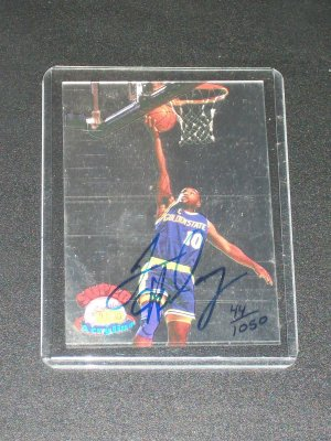 Tim Hardaway RARE 1995 Super Signature Rookies autographed LIMITED EDITION card