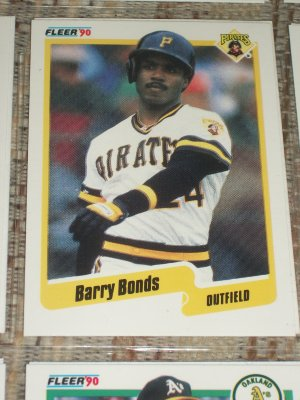 Barry Bonds 1990 Fleer Baseball Card