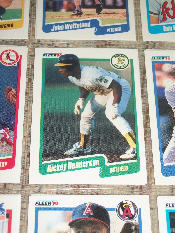 Rickey Henderson 1990 Fleer Baseball Card