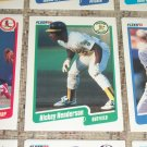 Rickey Henderson 1990 Fleer Baseball Card