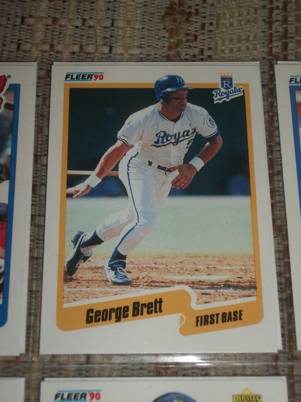 George Brett 1990 Fleer Baseball Card