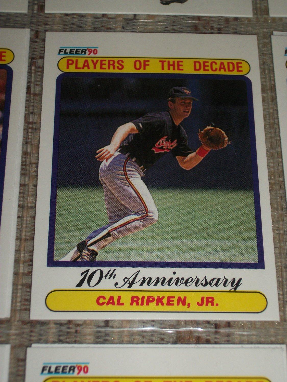 cal ripken jr 1990 fleer players of the century baseball card