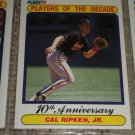 Cal Ripken Jr 1990 Fleer- Players of the Century Baseball Card