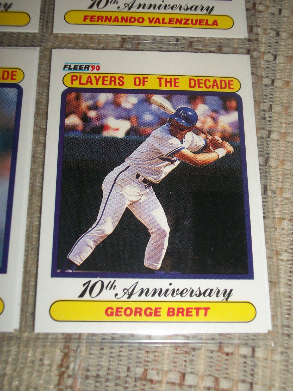 George Brett 1990 Fleer- Players of the Decade Baseball Card