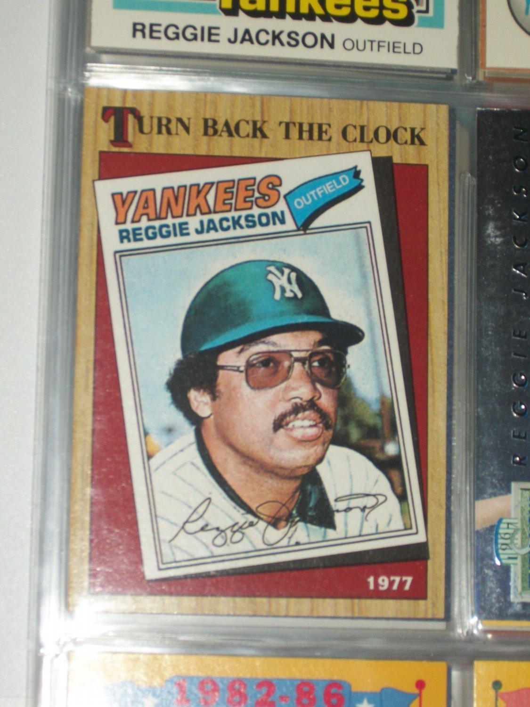 Reggie Jackson 1987 Topps- Turn Back the Clock baseball card