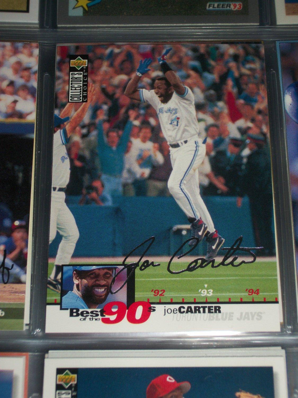 Joe Carter 1995 Upper Deck Baseball- Best of the 90's Silver Signature