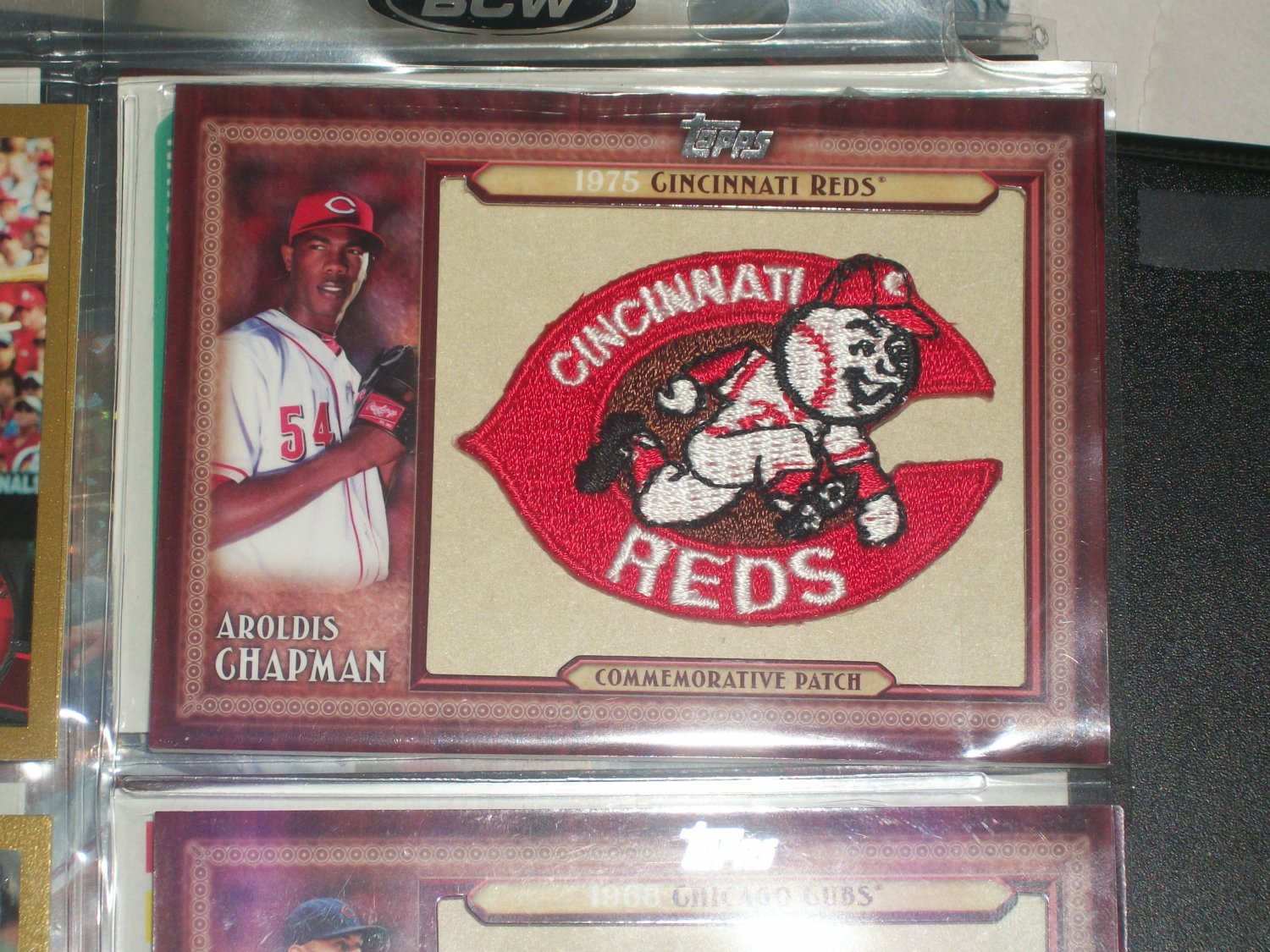 Aroldis Chapman 2011 Topps RARE REDS Throwback Manufactured Patch Card