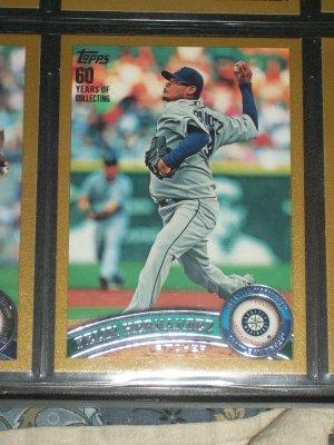 Felix Hernandez 2011 Topps LE #1910/2011 Baseball Card- Gold Edition